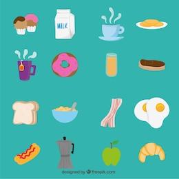 Ícones do pequeno almoço