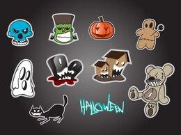 ícones dos desenhos animados para o dia das bruxas
