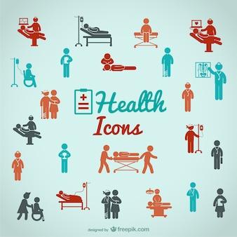Ícones dos povos de saúde