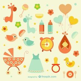 ícones femininos do bebê
