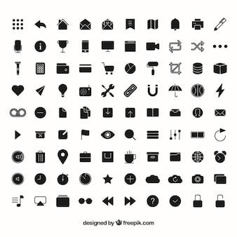 ícones lisos grande coleção