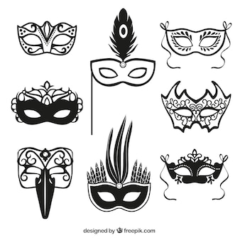 Ícones máscara do carnaval