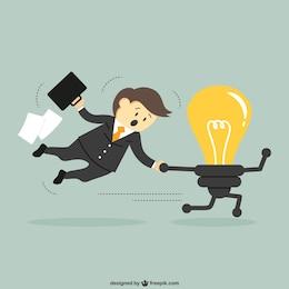 Idéia conceito de negócio vector