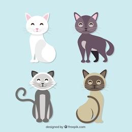 Ilustração bonito livre gato preto