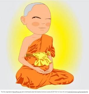 Ilustração budismo monge vetor