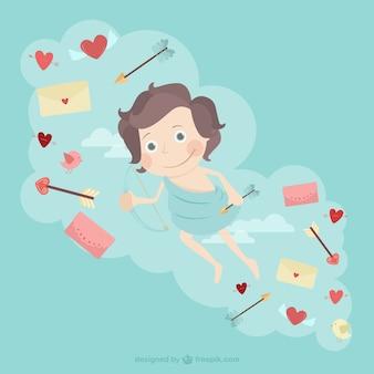Ilustração Cupid bonito