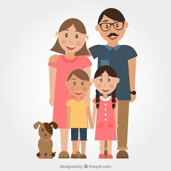 Ilustração da família