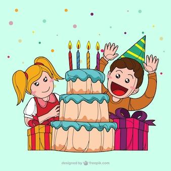 Ilustração Feliz aniversário