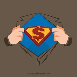 Ilustração peito Superhero