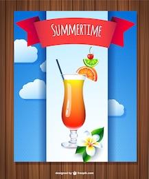 Ilustração vetorial cocktail