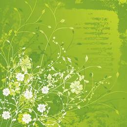 ilustração vetorial floral verde