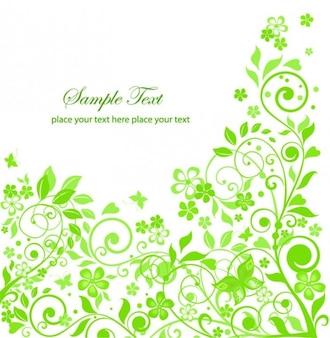 Ilustração vetorial flores verdes limpo