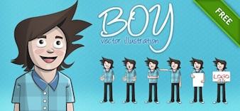 ilustração vetorial menino