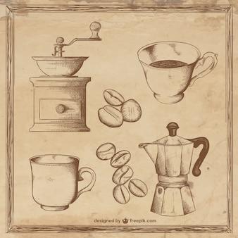 Ilustrações de café