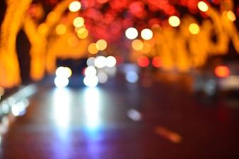 Imagem borrada da cidade