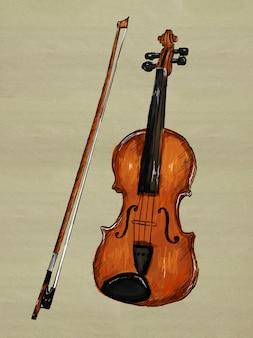 Imagem da pintura do violino