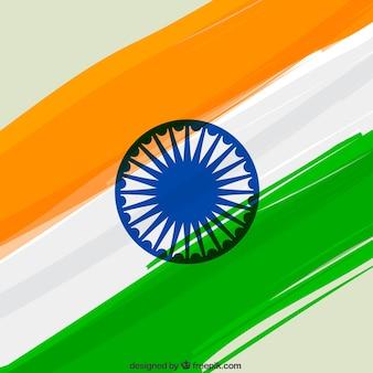 Fundo a bandeira indiana