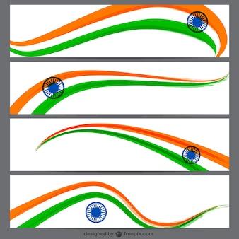Banners bandeira indiana