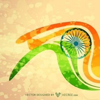 Bandeira indiana ilustração
