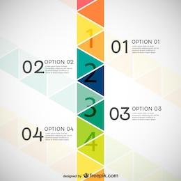 Infografia com triângulos