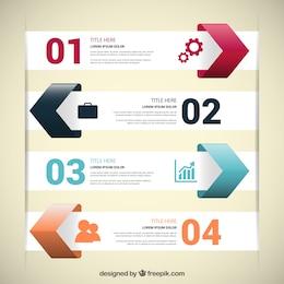 Infográfico moderno com setas