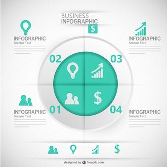 Modelo de negócio infográfico free vector