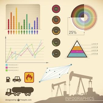 Template óleo apresentação infográfico