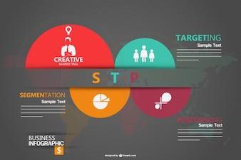 Modelo de infográfico para o marketing