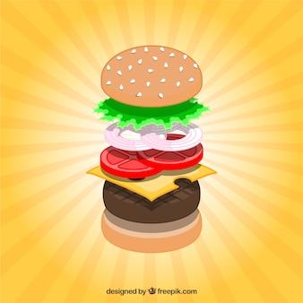 Ingredientes do Hamburger