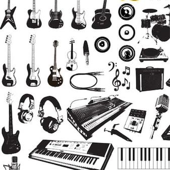 instrumentos musicais gráficos vetoriais
