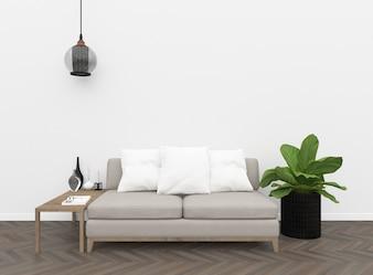 Interior - parede em branco