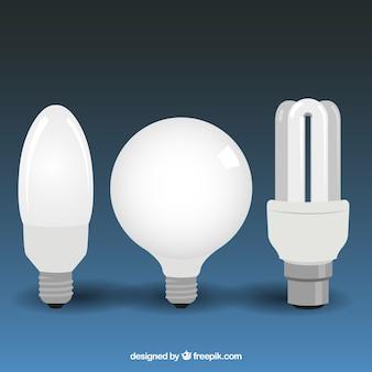 Isolado lâmpadas definido