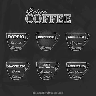 Emblemas de café italiano