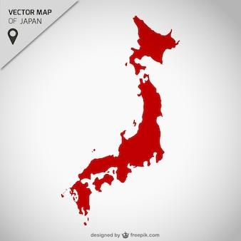Japão free vector mapa