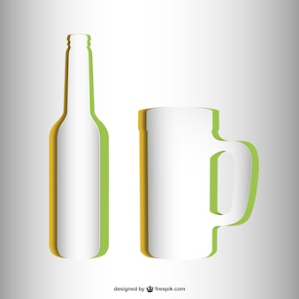 Jarra e garrafa contornos
