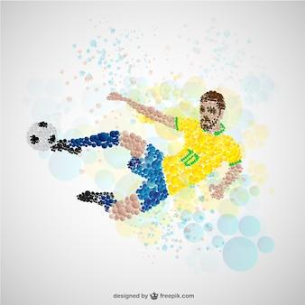 Jogador de futebol no ataque