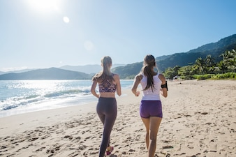 Jogging durante as férias de verão