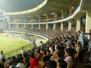 Jogo de críquete na Índia combinar