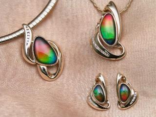 jóias ammolite
