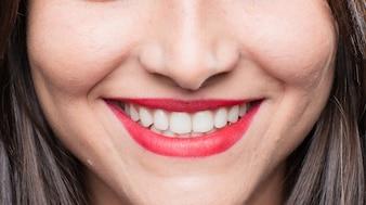 Jovem, menina, sorrindo