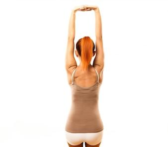 Jovem praticante de ioga