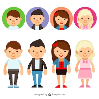 Jovens avatars