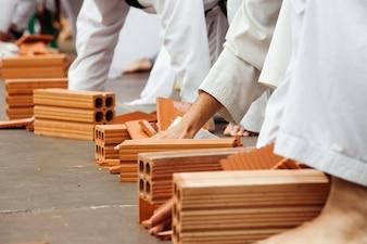 Karate mostra suas habilidades