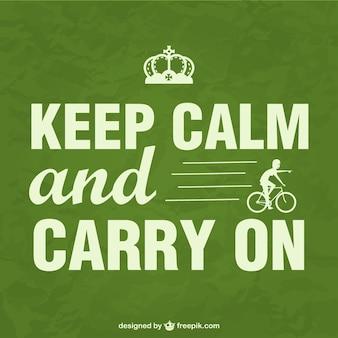 Manter cartaz bicicleta calma