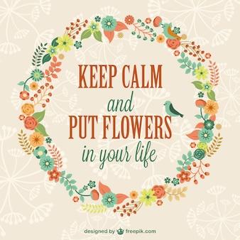 Manter a calma modelo floral