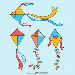 Kites desenhos animados embalar