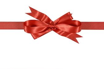 Laço de fita vermelha do presente