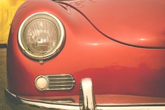 Lâmpada de farol do carro vintage - estilo de efeito de cor retro