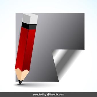 Lápis com papel cinzento