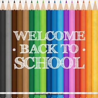 Lápis de cor para a escola